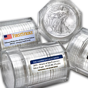 2011 Silver Eagles - BU PCGS - 20-Coin Sealed Tube - SF Mint/FS