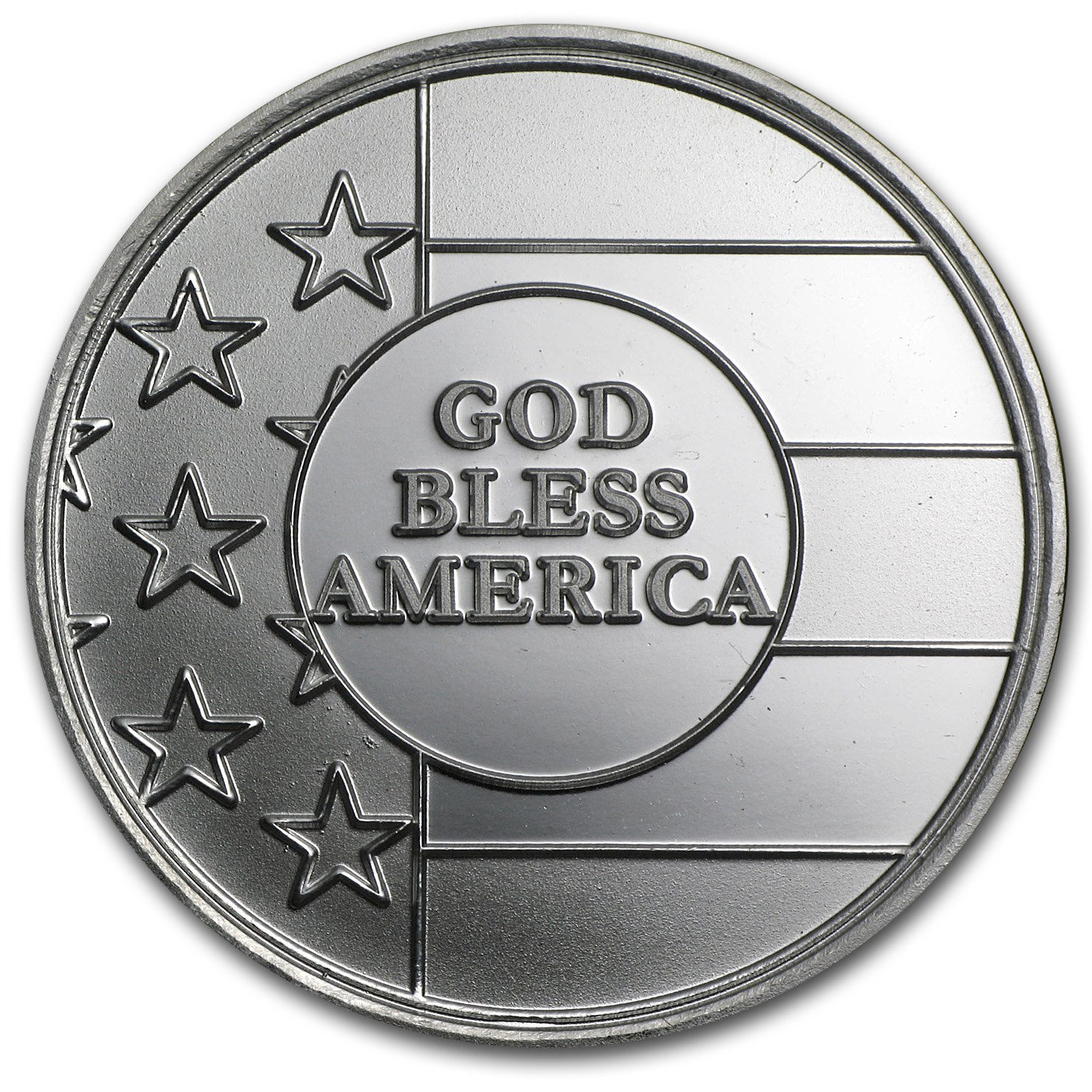 1 oz Silver Round - God Bless America