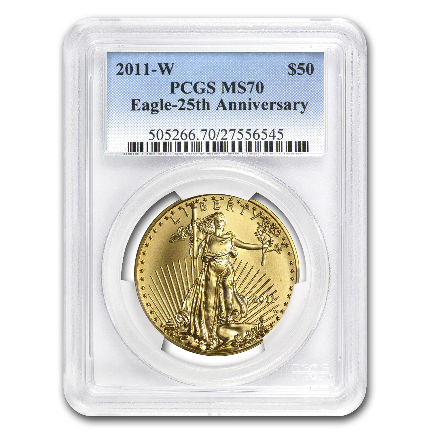 2011-W 1 oz Burnished Gold American Eagle MS-70 PCGS