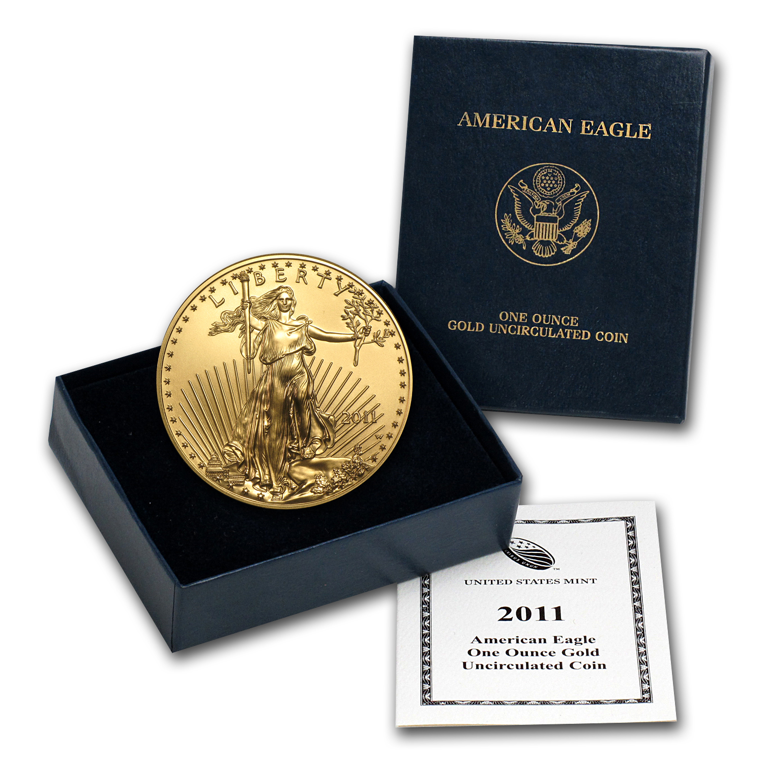 2011-W 1 oz Burnished Gold Eagle (w/Box & COA)