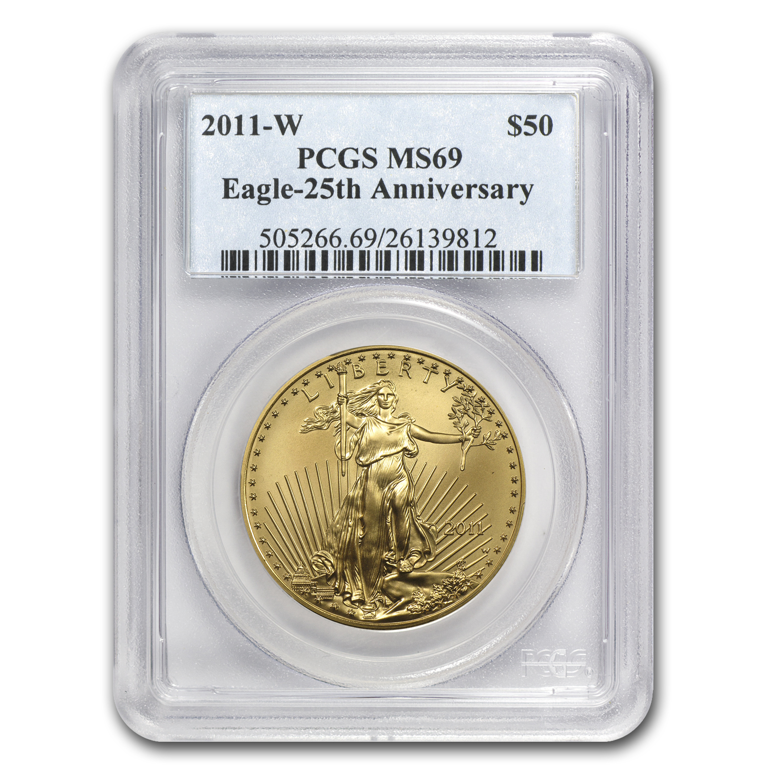 2011-W 1 oz Burnished Gold Eagle MS-69 PCGS