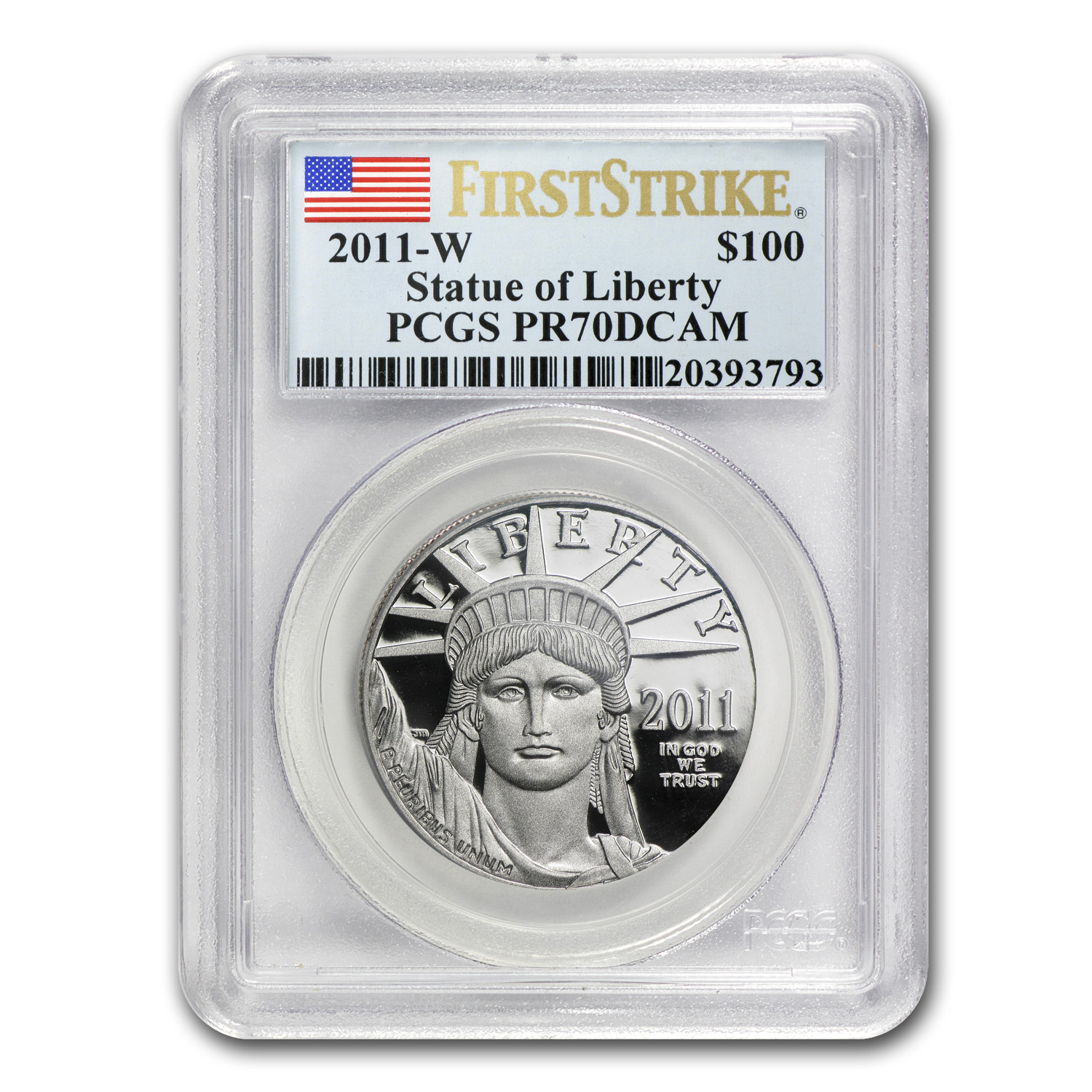 2011-W 1 oz Prf Platinum American Eagle PCGS PR-70 (First Strike)