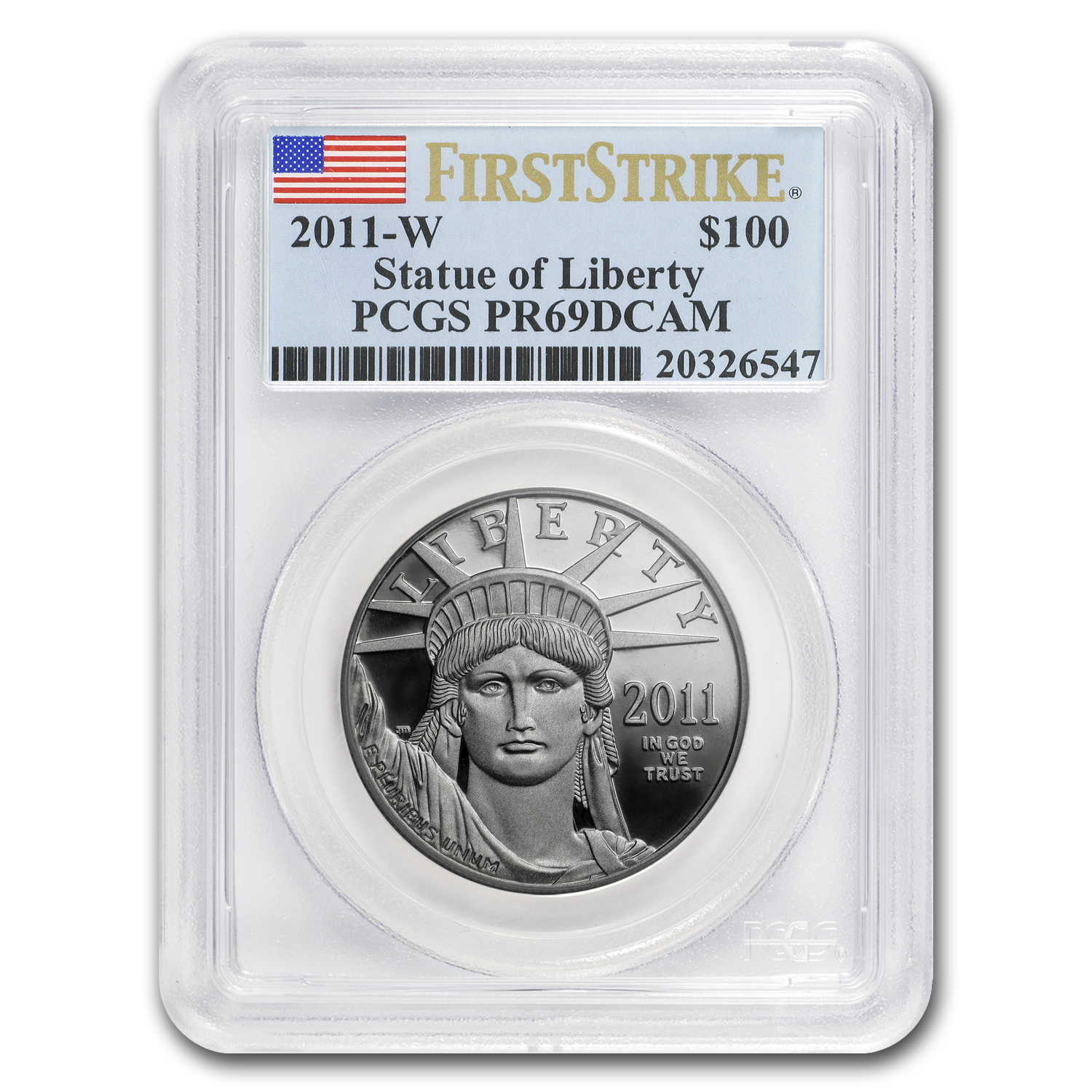 2011-W 1 oz Prf Platinum American Eagle PR-69 PCGS (First Strike)