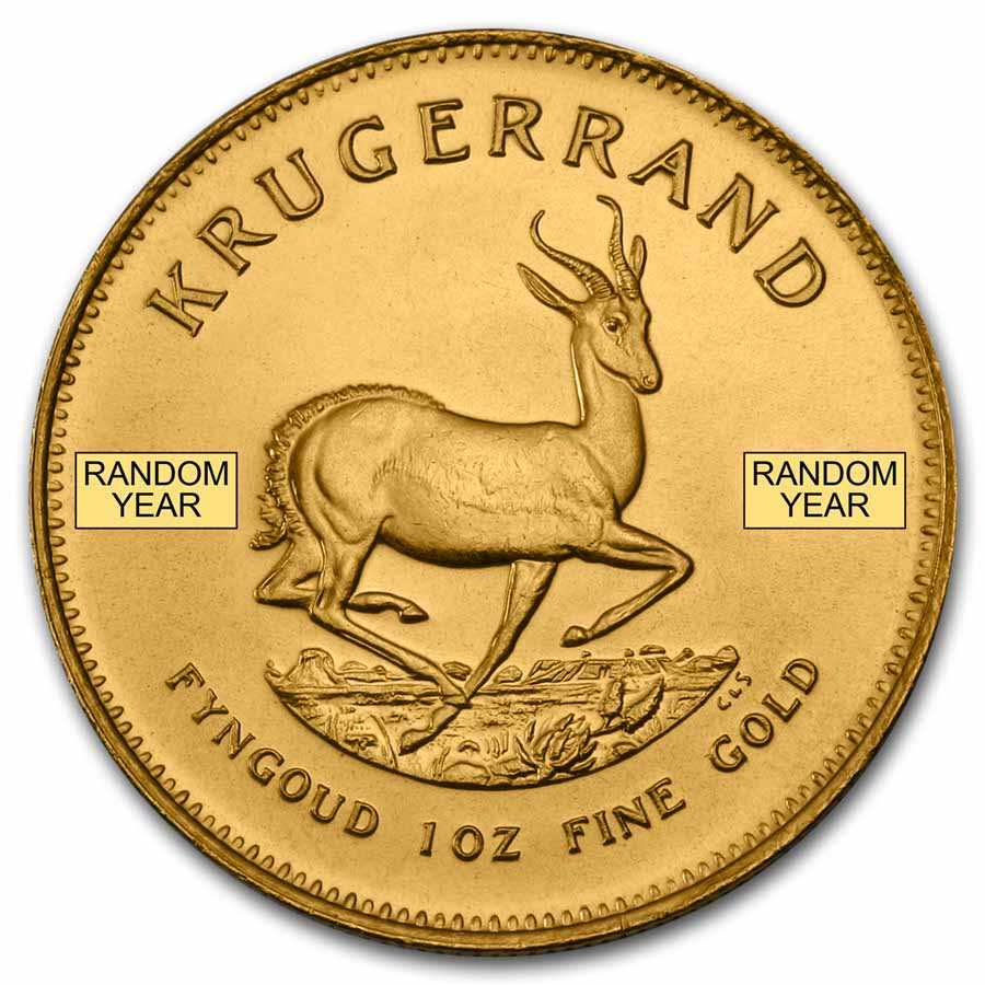 South Africa 1 oz Gold Krugerrand (Random Year)