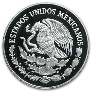 2005 Mexico 10 Peso 1 oz Silver Proof State of Chiapas