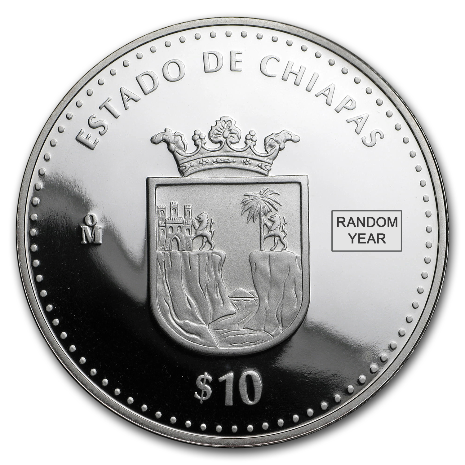 1 oz Proof Silver States of Mexico (Random, Capsule Only)