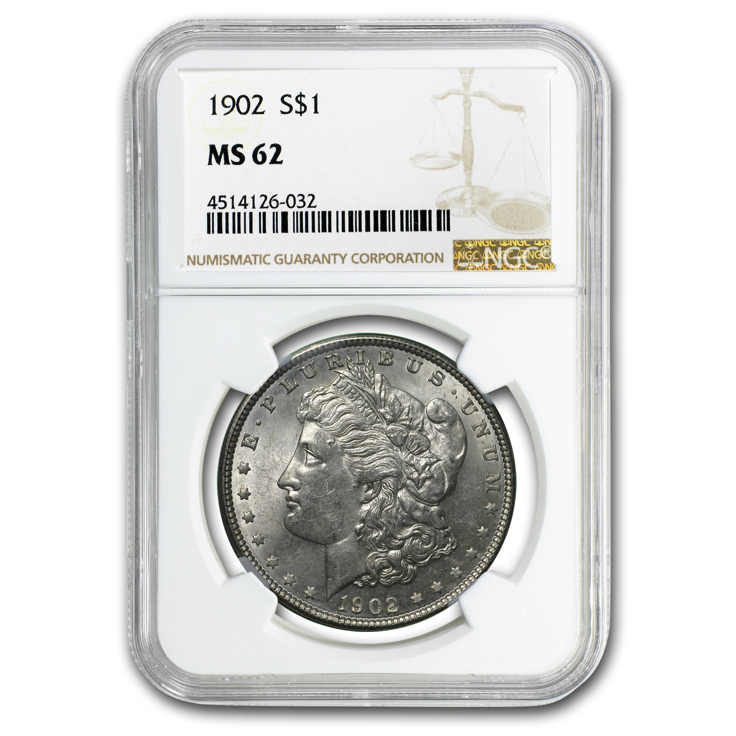 1902 Morgan Dollar MS-62 NGC