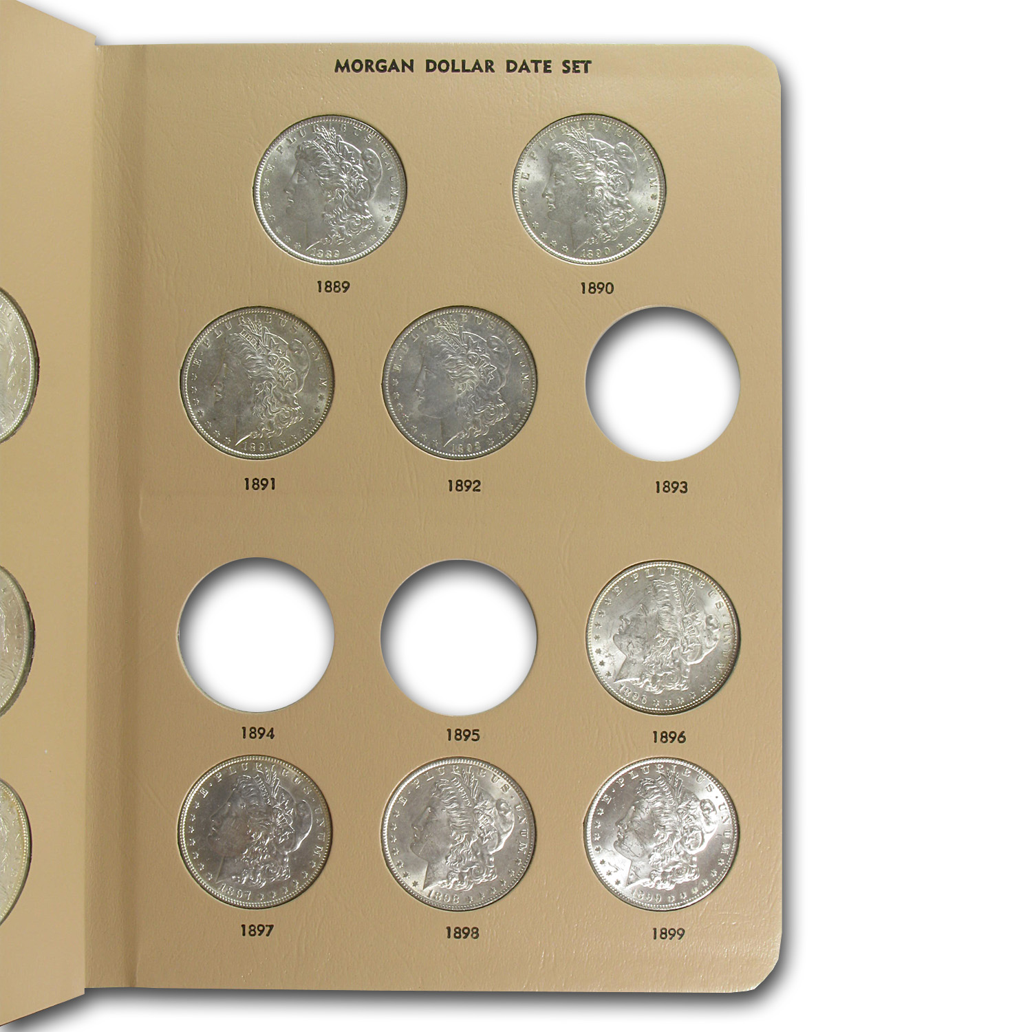 29-Coin Morgan Dollar Date Set BU (Dansco Album)