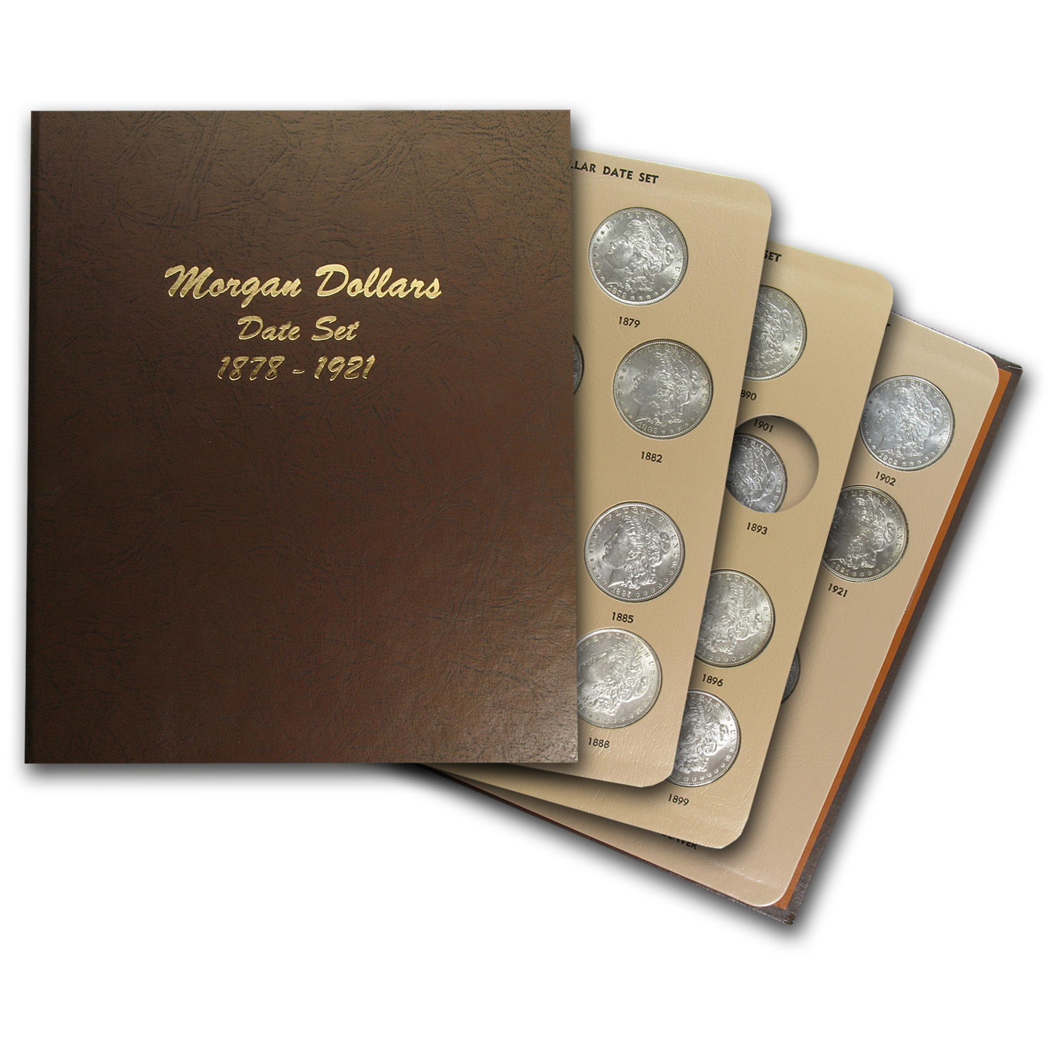 Morgan Dollar Date Set - BU - Dansco Album - 29 Coins