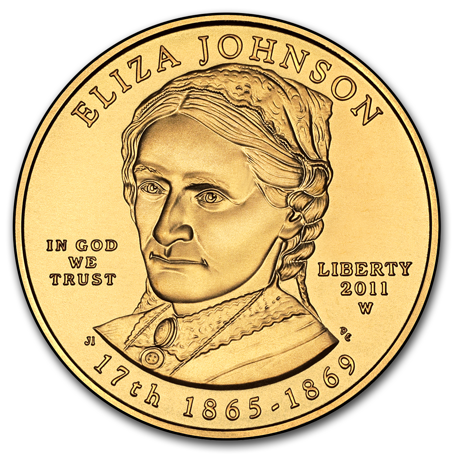 2011-W 1/2 oz Uncirculated Gold Eliza Johnson (w/Box & CoA)