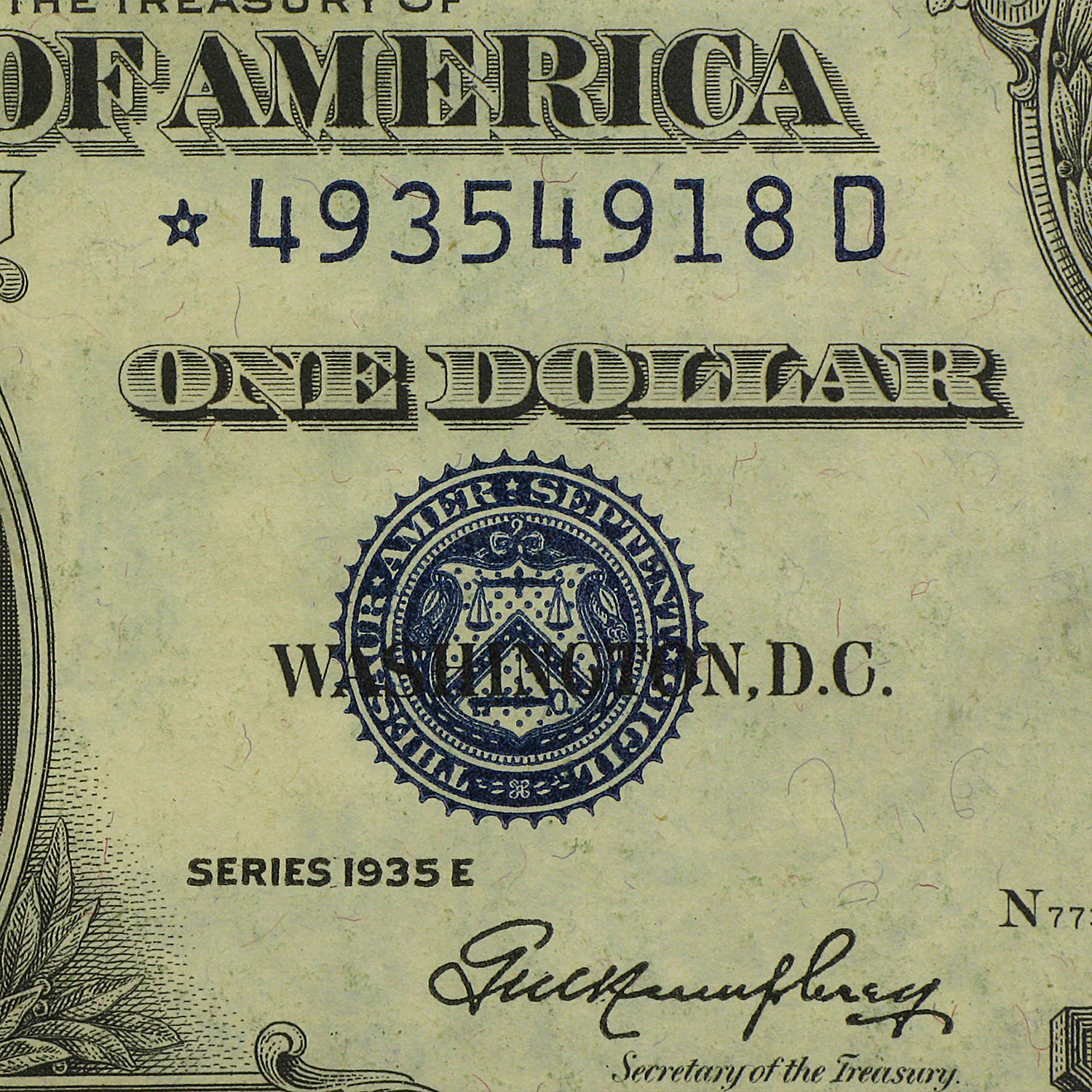 1935's* $1.00 Silver Certificates (Extra Fine) Star Note