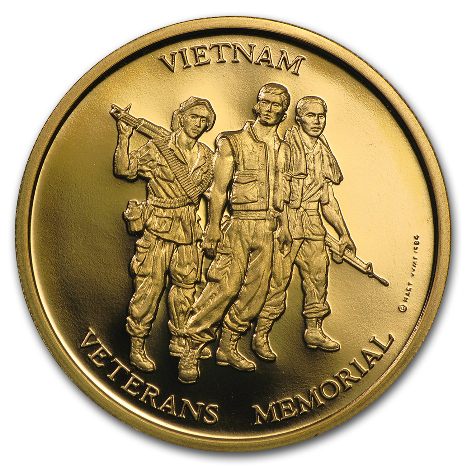 Vietnam Veterans Memorial 1/2 oz Gold Medal