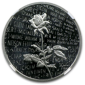 1/2 oz Proof Platinum Vietnam Veterans Memorial Medal PF-69 NGC