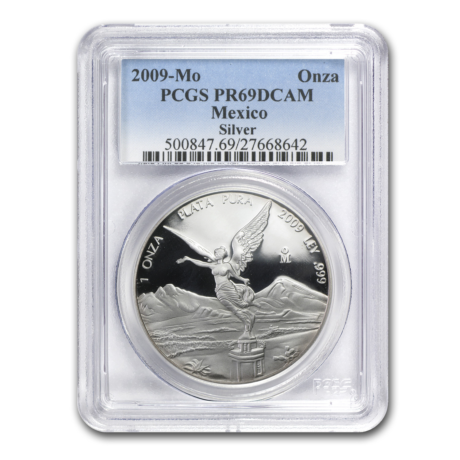 2009 Mexico 1 oz Proof Silver Libertad PR-69 PCGS