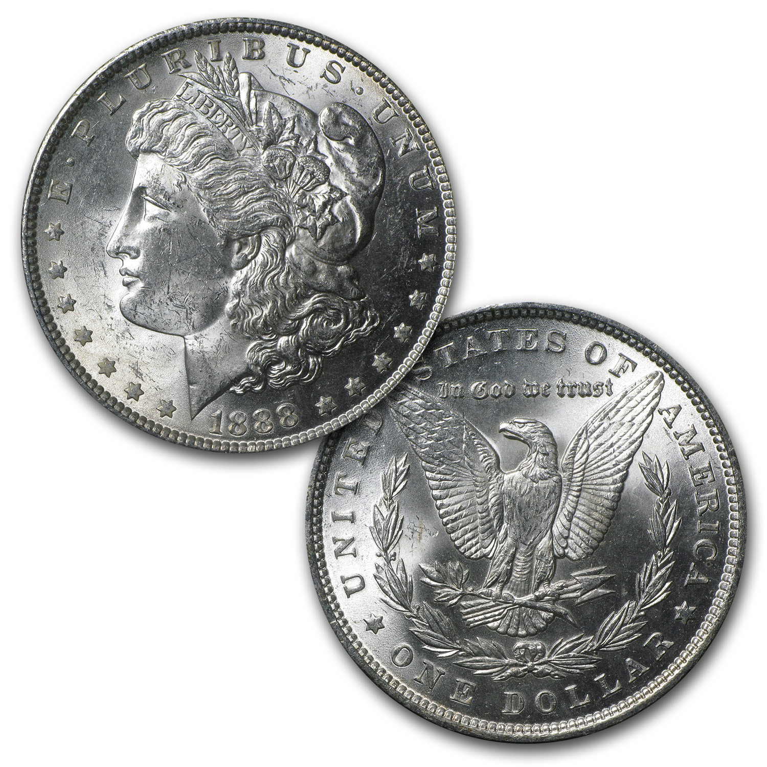 1878-1921 5-Coin Morgan Dollar Mintmark Set BU