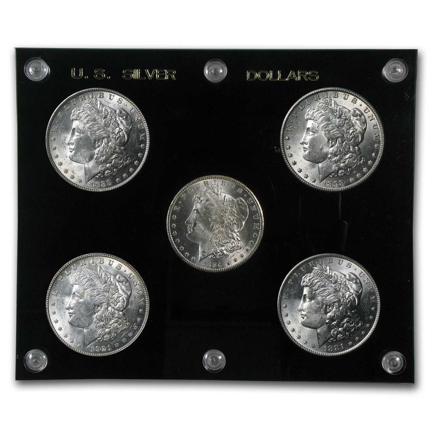 Morgan Dollar - 5-Coin Mintmark Set - Brilliant Uncirculated