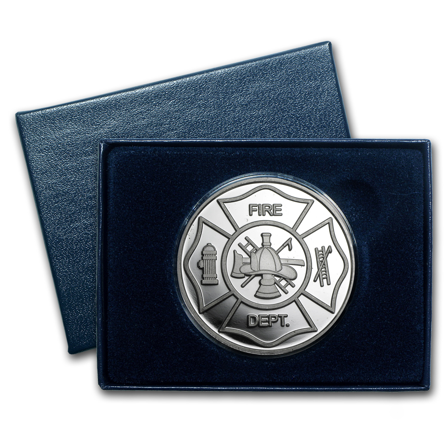 1 oz Silver Round - Firefighter's Prayer (w/Box & Capsule)
