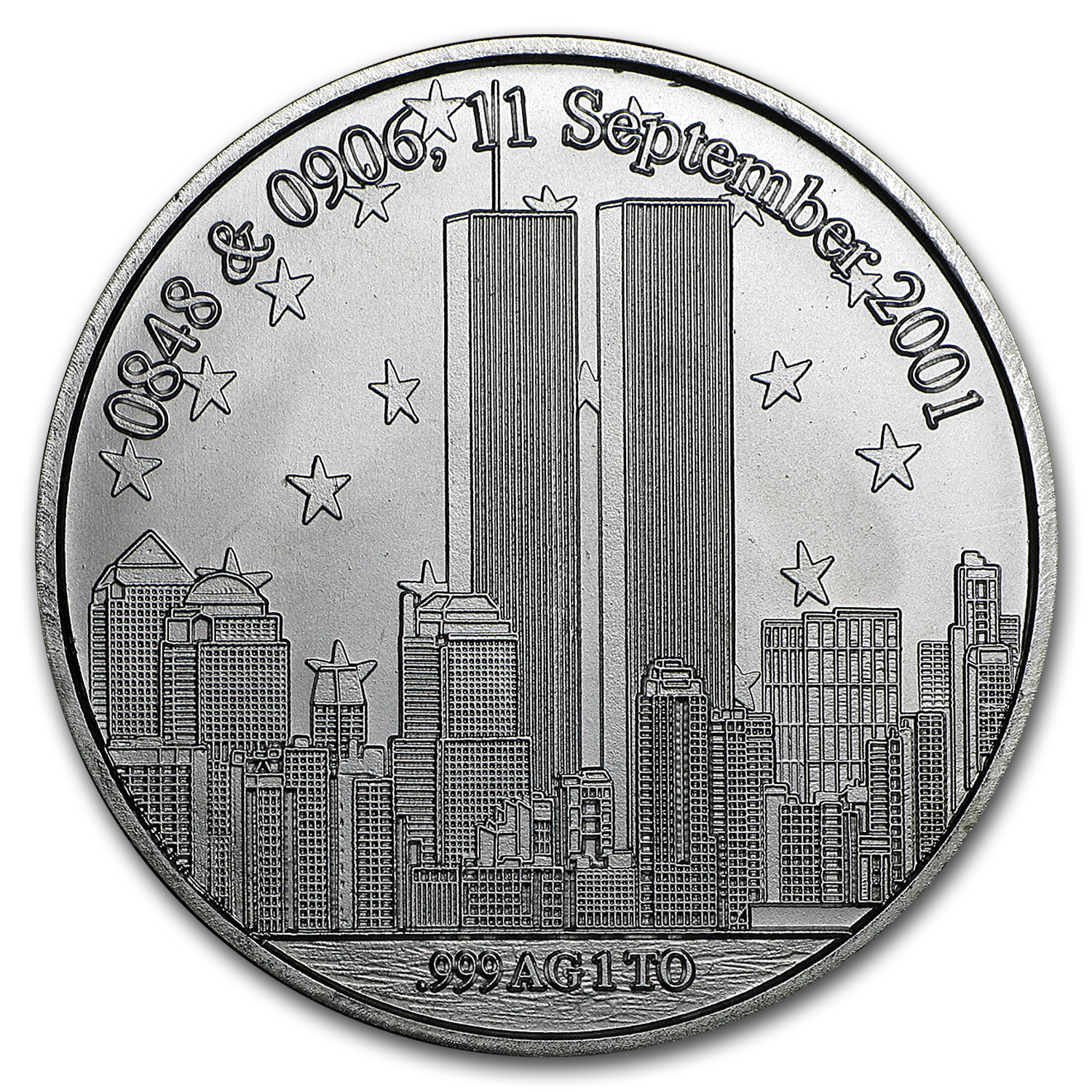 1 oz Silver Rounds - We Will Never Forget