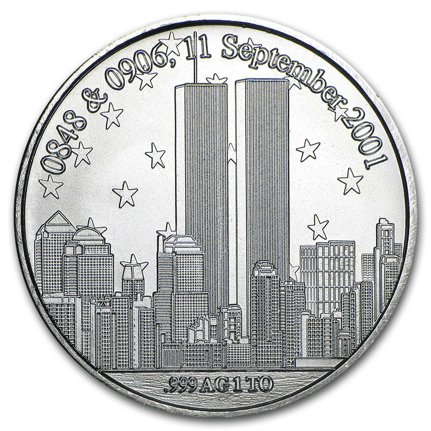1 oz Silver Rounds - Forever In Our Hearts 9/11