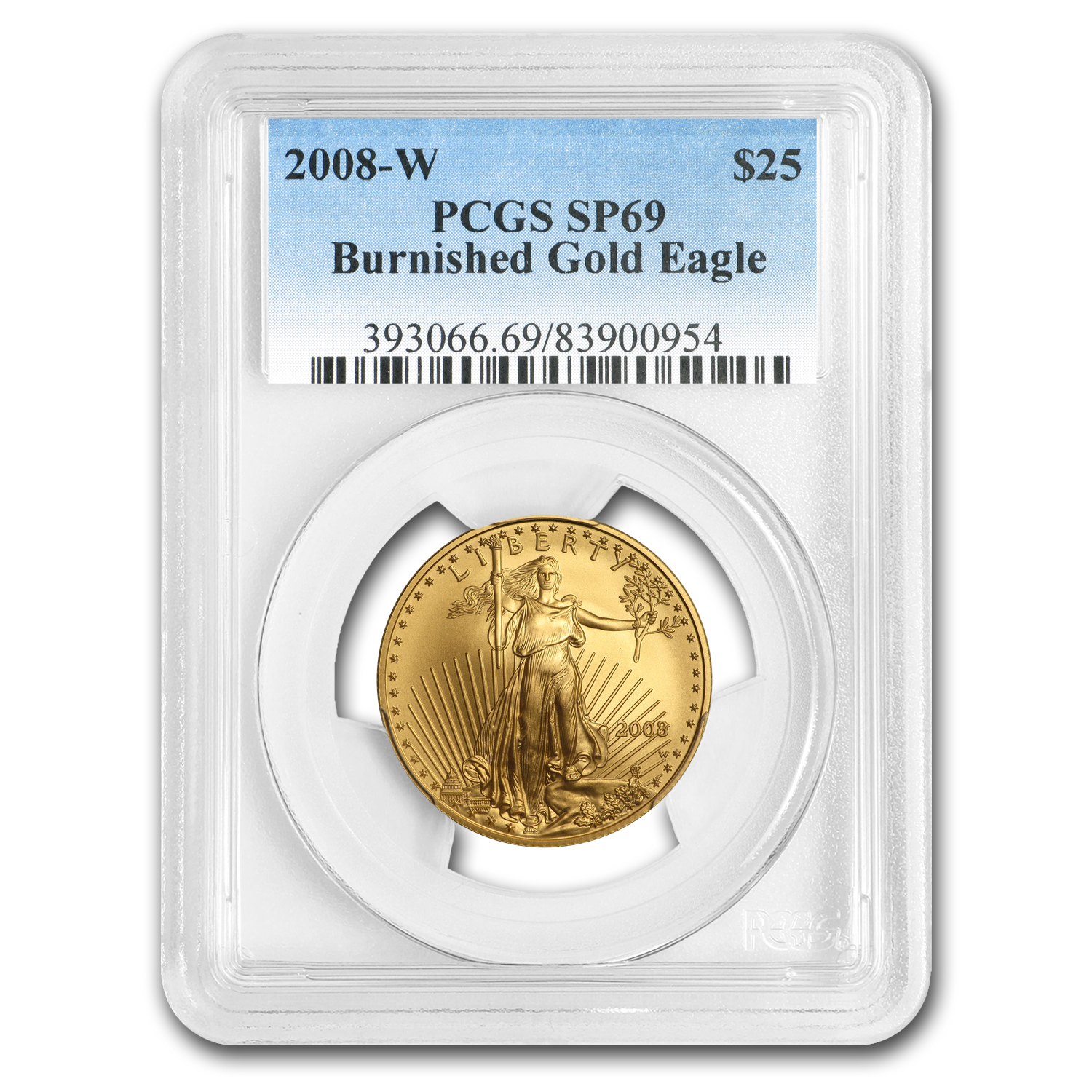 2008-W 1/2 oz Burnished Gold American Eagle MS-69 PCGS