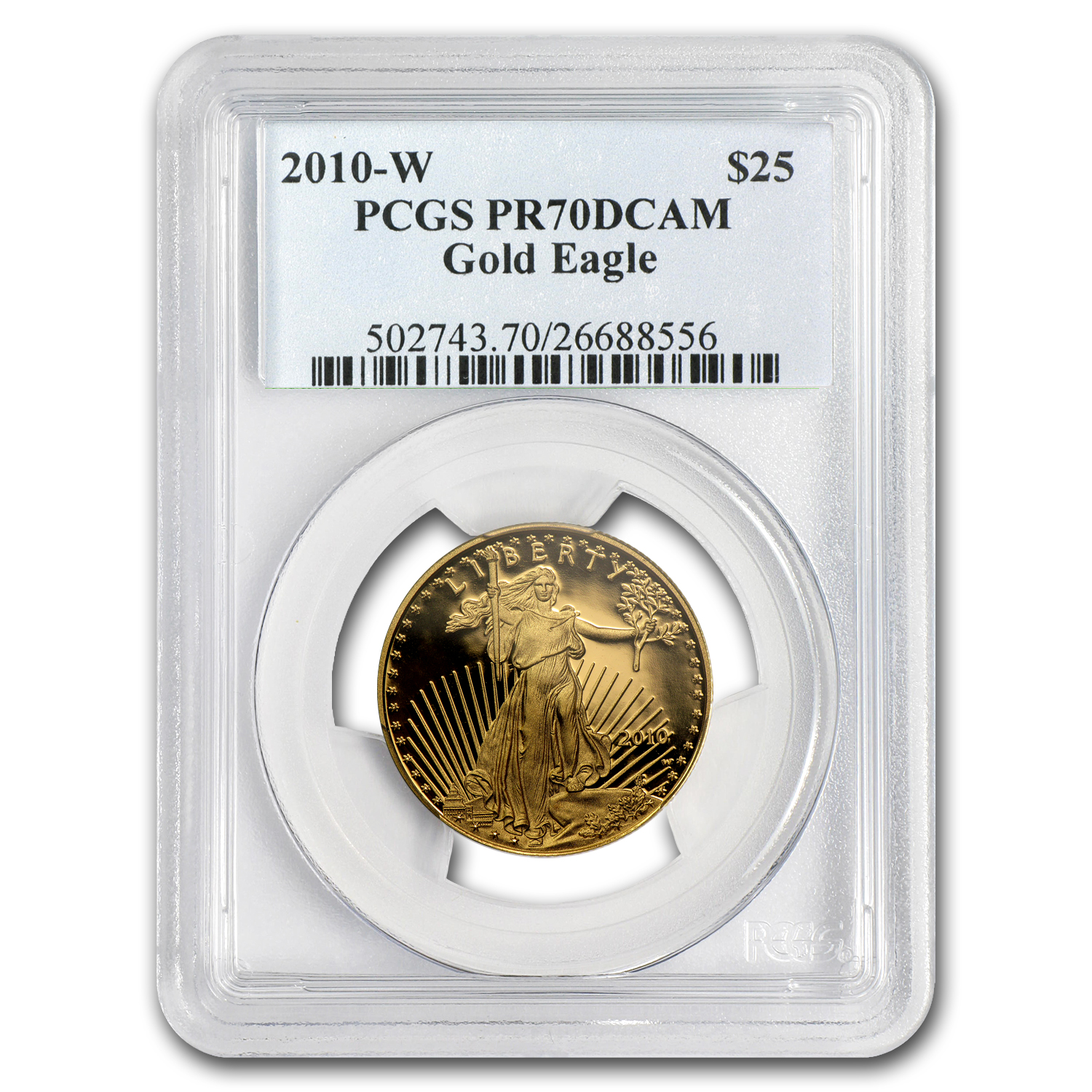 2010-W 1/2 oz Proof Gold American Eagle PR-70 PCGS
