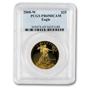 2008-W 1/2 oz Proof Gold American Eagle PR-69 PCGS