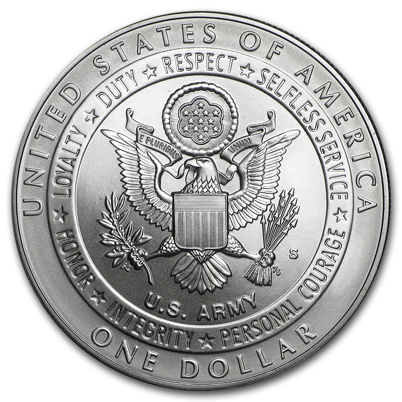 2011 S United States Army 1 Silver Commemorative Bu
