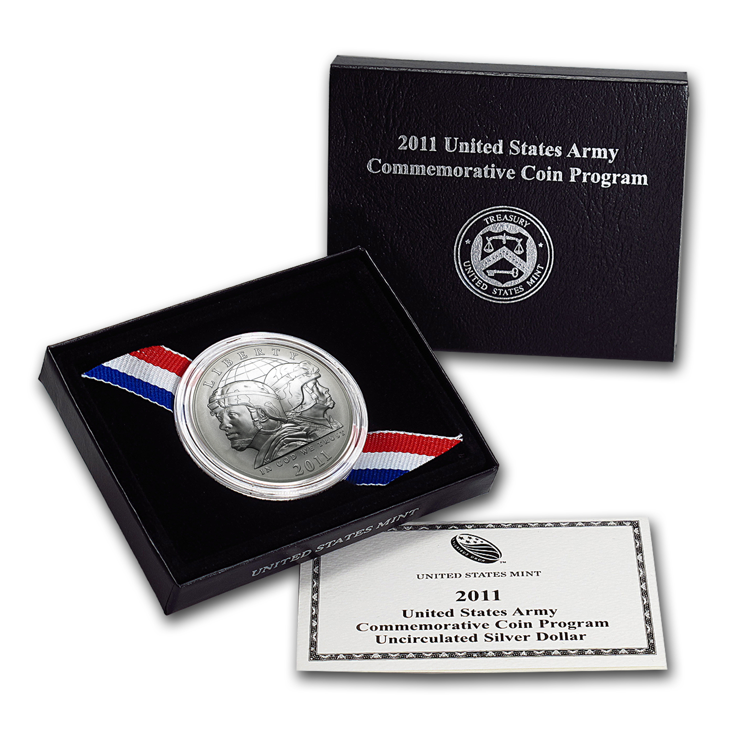 2011-S United States Army $1 Silver Commem BU (w/Box & COA)