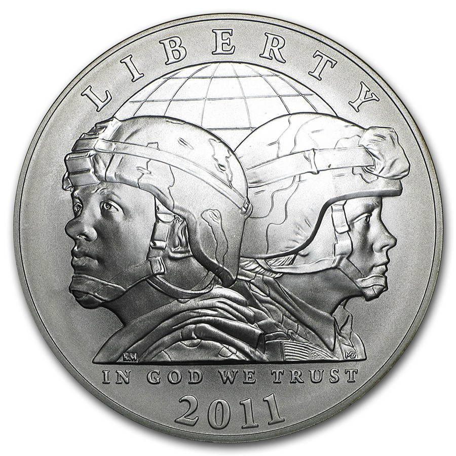 2011 S United States Army 1 Silver Commemorative Bu