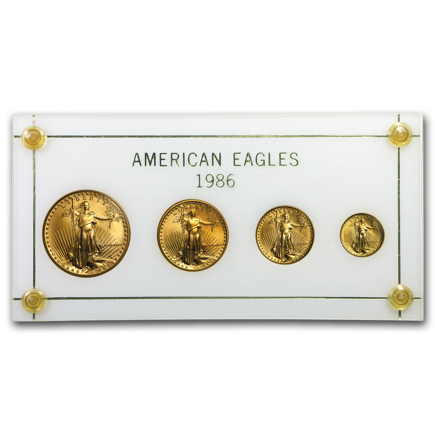 1986 4-Coin Gold American Eagle Set BU