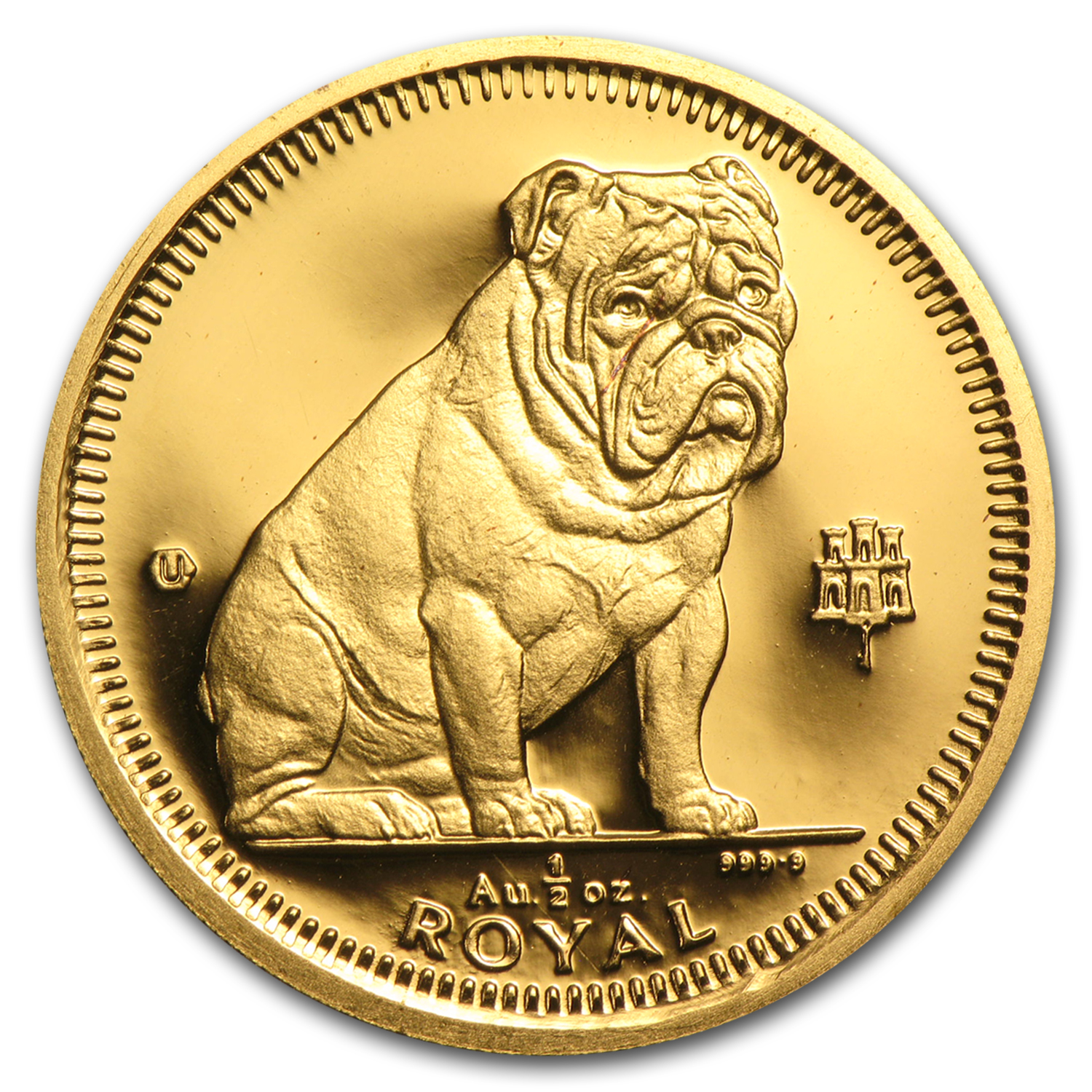 Gibraltar 1/2 Royal Gold Unc/Proof Dogs (Random)