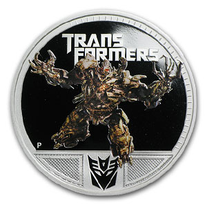 2011 1 oz Proof Silver Megatron- 2nd Transformers Series