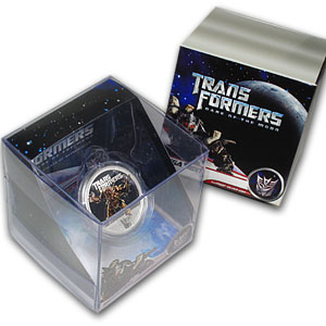 2011 1 oz Silver 2nd Transformers Series Proof (Megatron)