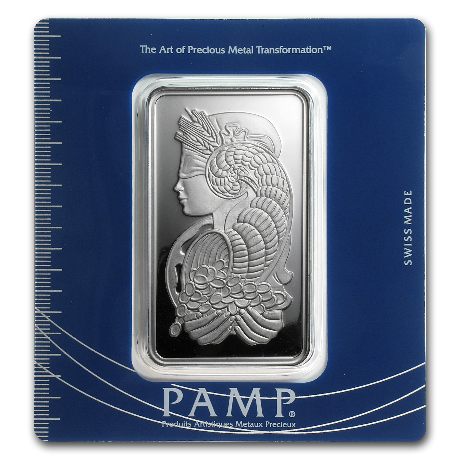 100 gram Silver Bar - PAMP Suisse (Fortuna, In Assay)