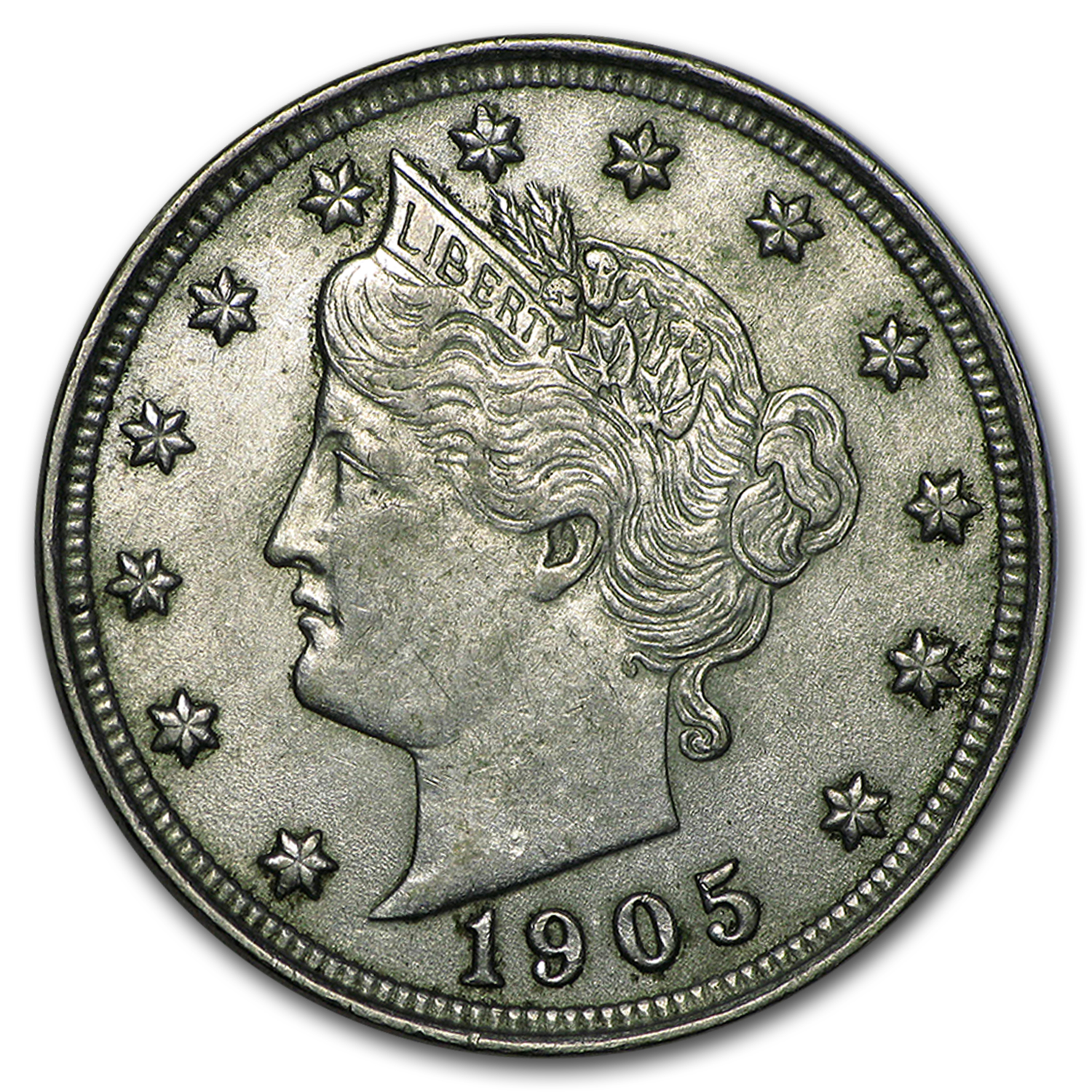 1905 Liberty Head V Nickel Au Liberty Nickels 1883