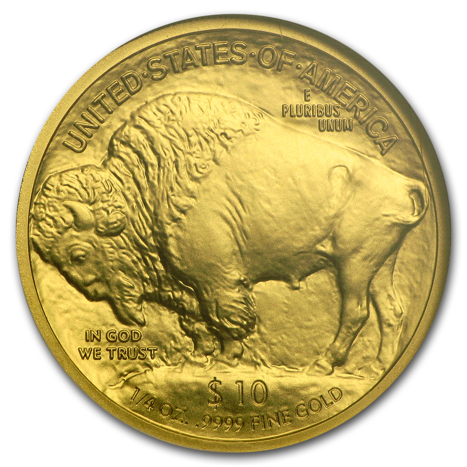 2008-W 1/4 oz Gold Buffalo MS-70 NGC (ER) Registry Set