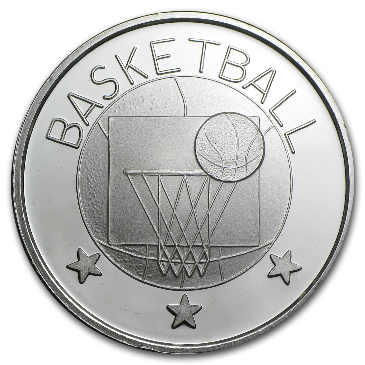1 oz Basketball Silver Round (w/Gift Box & Capsule)