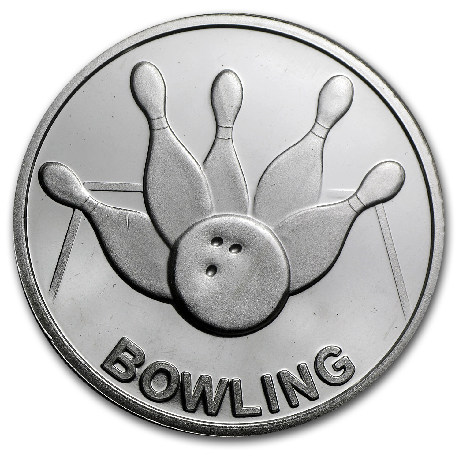 1 oz Silver Round - Bowling (w/Gift Box & Capsule)