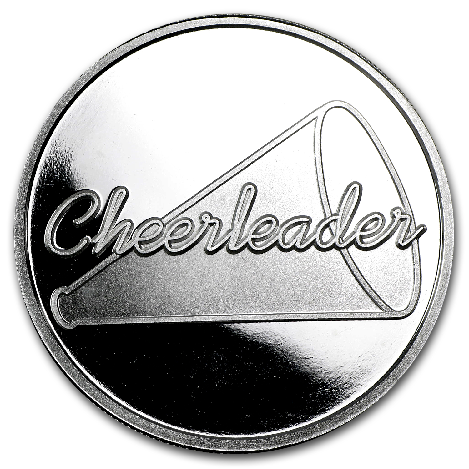 1 oz Silver Round - Cheerleading (w/Gift Box & Capsule)