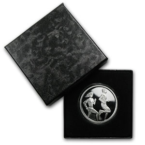 1 oz Silver Round - Running (w/Gift Box & Capsule)