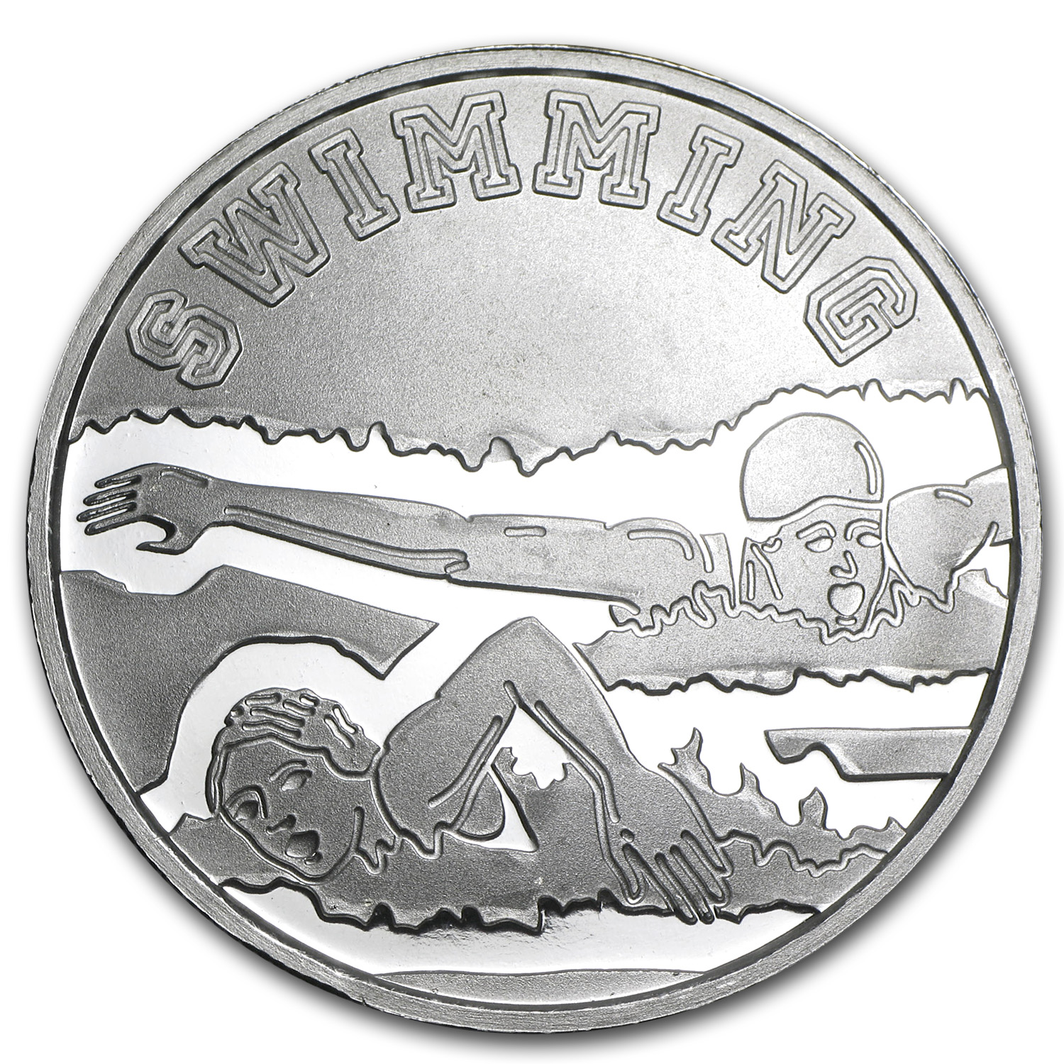1 oz Silver Round - Swimming
