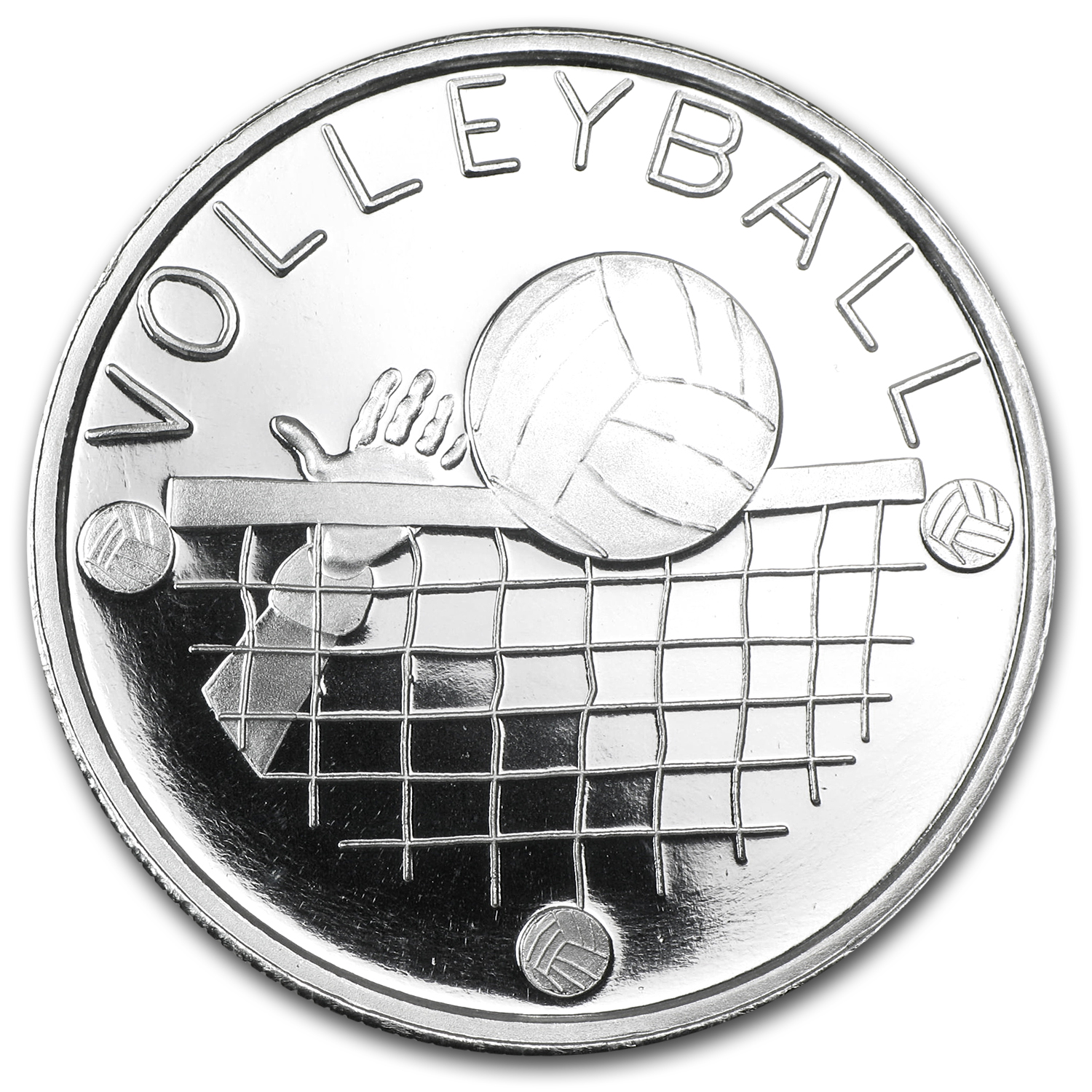 1 oz Volleyball Silver Round (w/Gift Box & Capsule)
