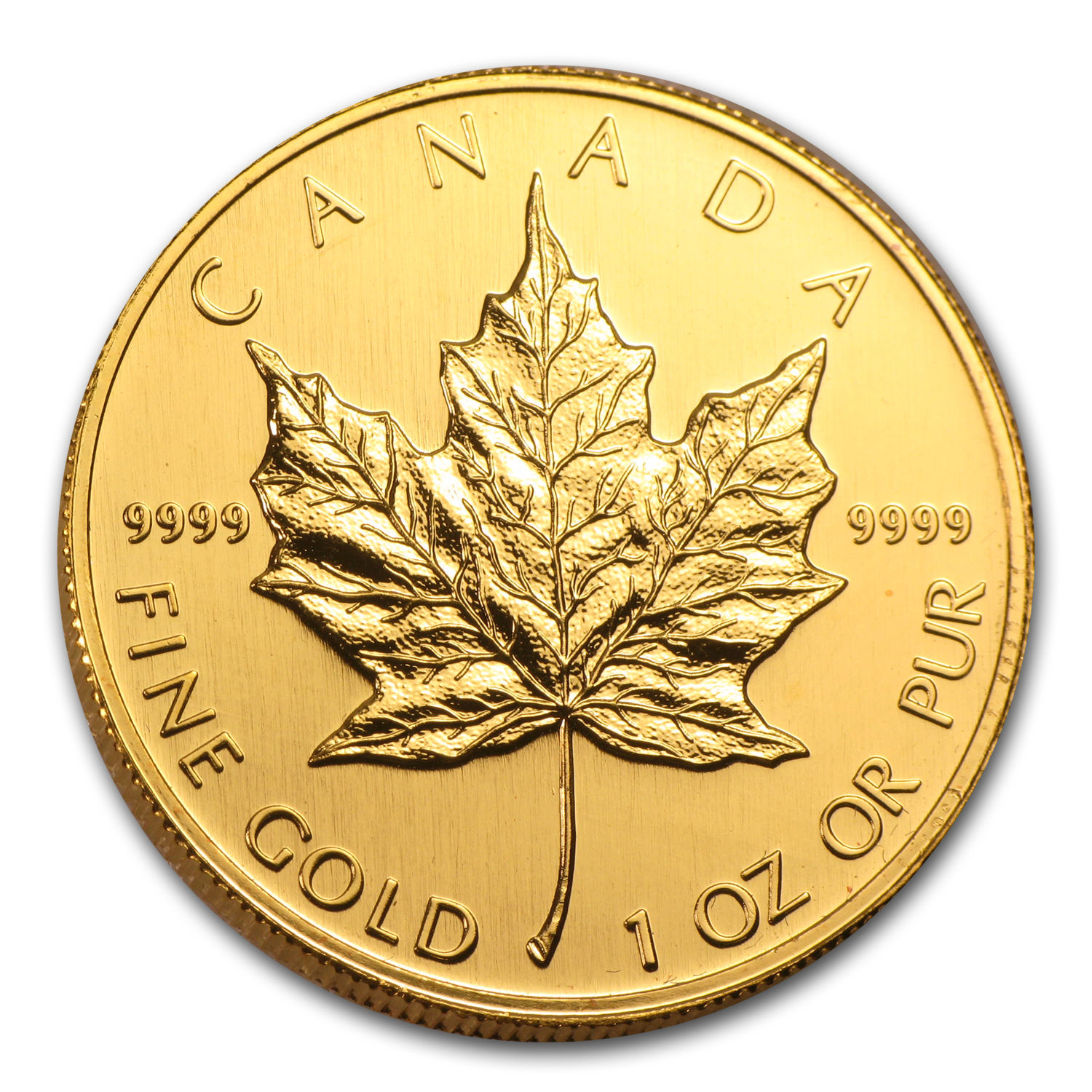 2001 1 oz Gold Canadian Maple Leaf - Brilliant Uncirculated