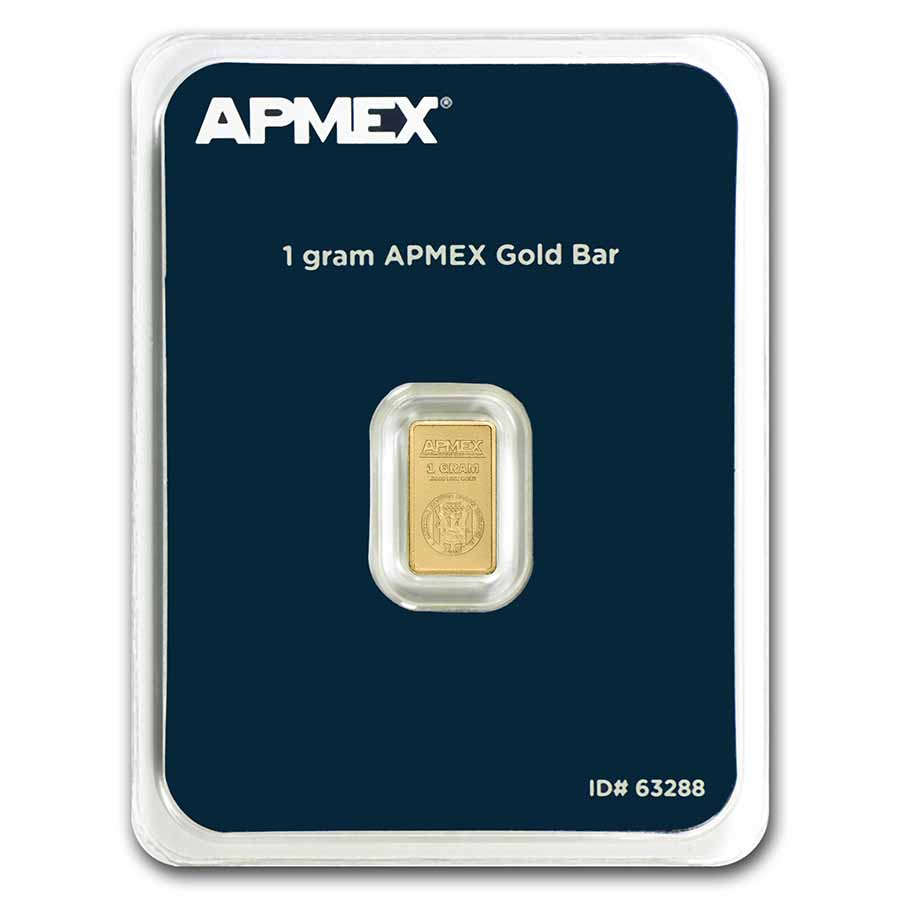 1 gram Gold Bar - APMEX (In TEP Package)