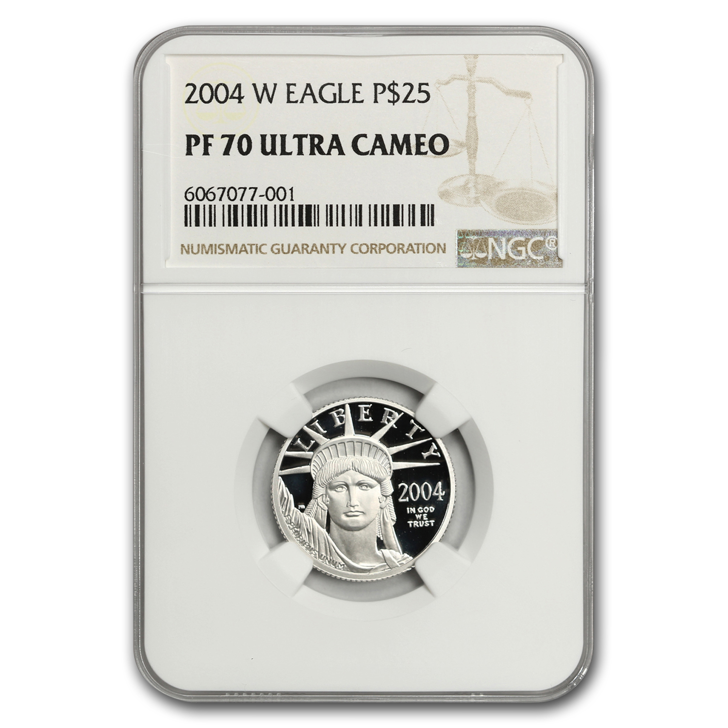 2004-W 1/4 oz Proof Platinum American Eagle PF-70 NGC