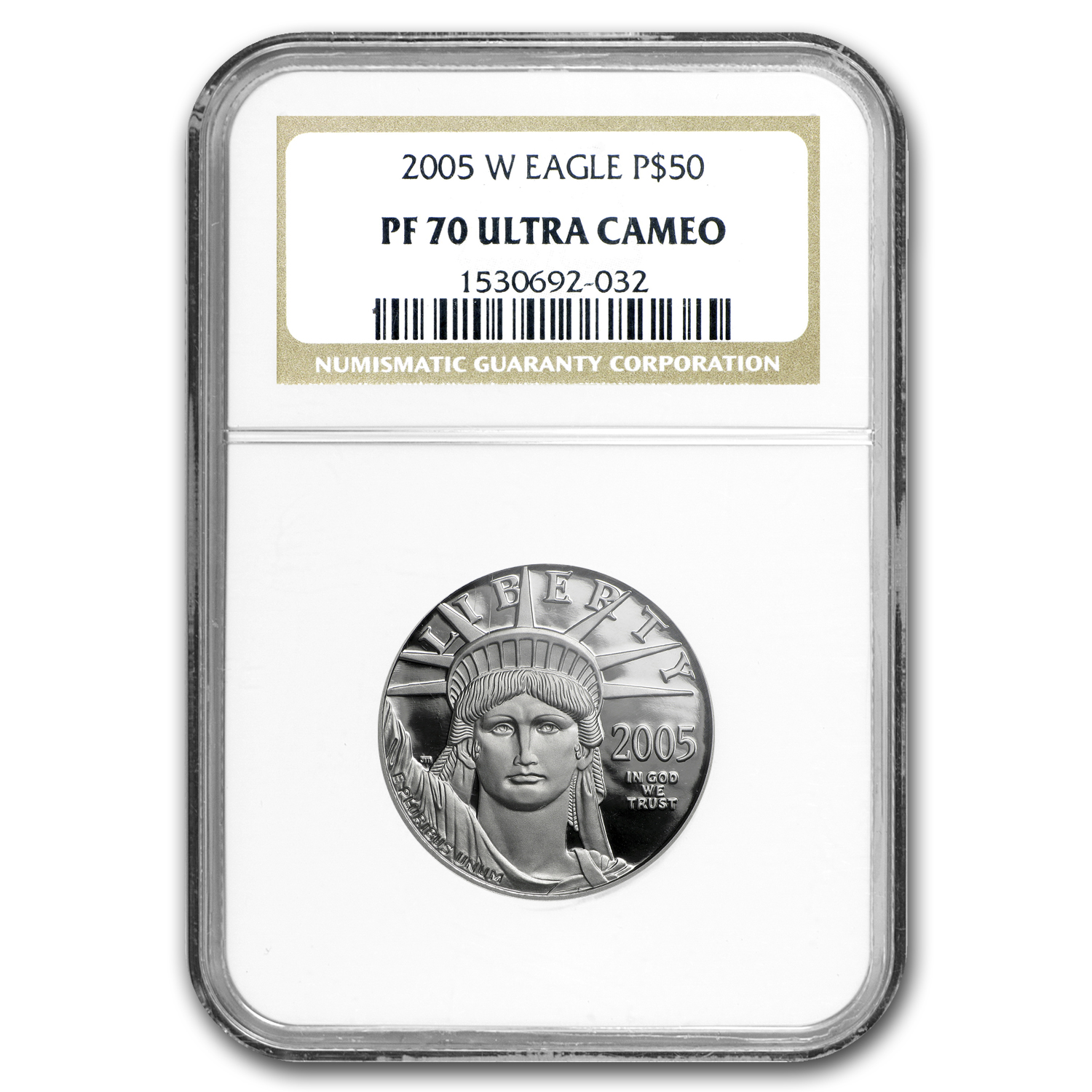 2005-W 1/2 oz Proof Platinum American Eagle PF-70 UCAM NGC