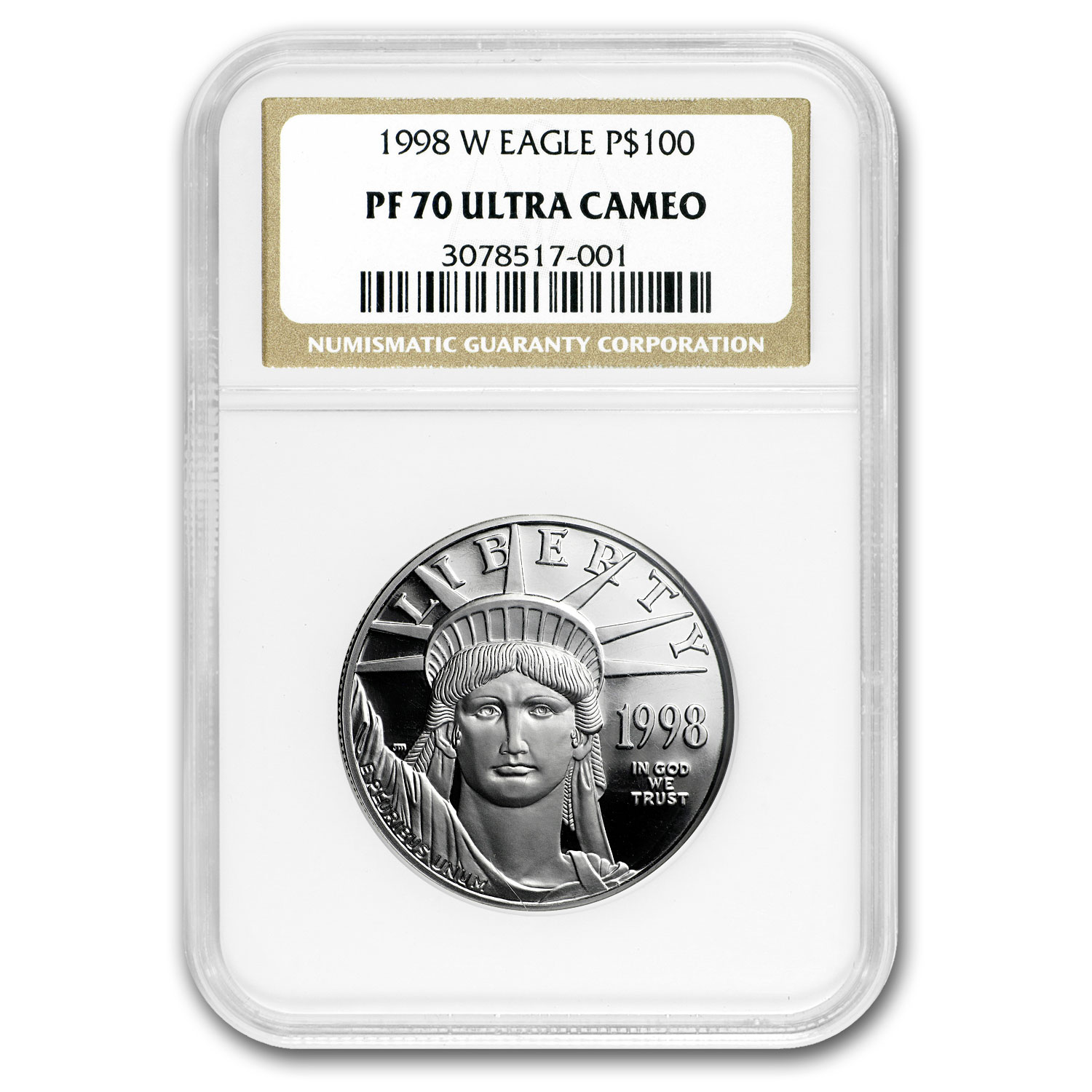 1998-W 1 oz Proof Platinum American Eagle PF-70 NGC