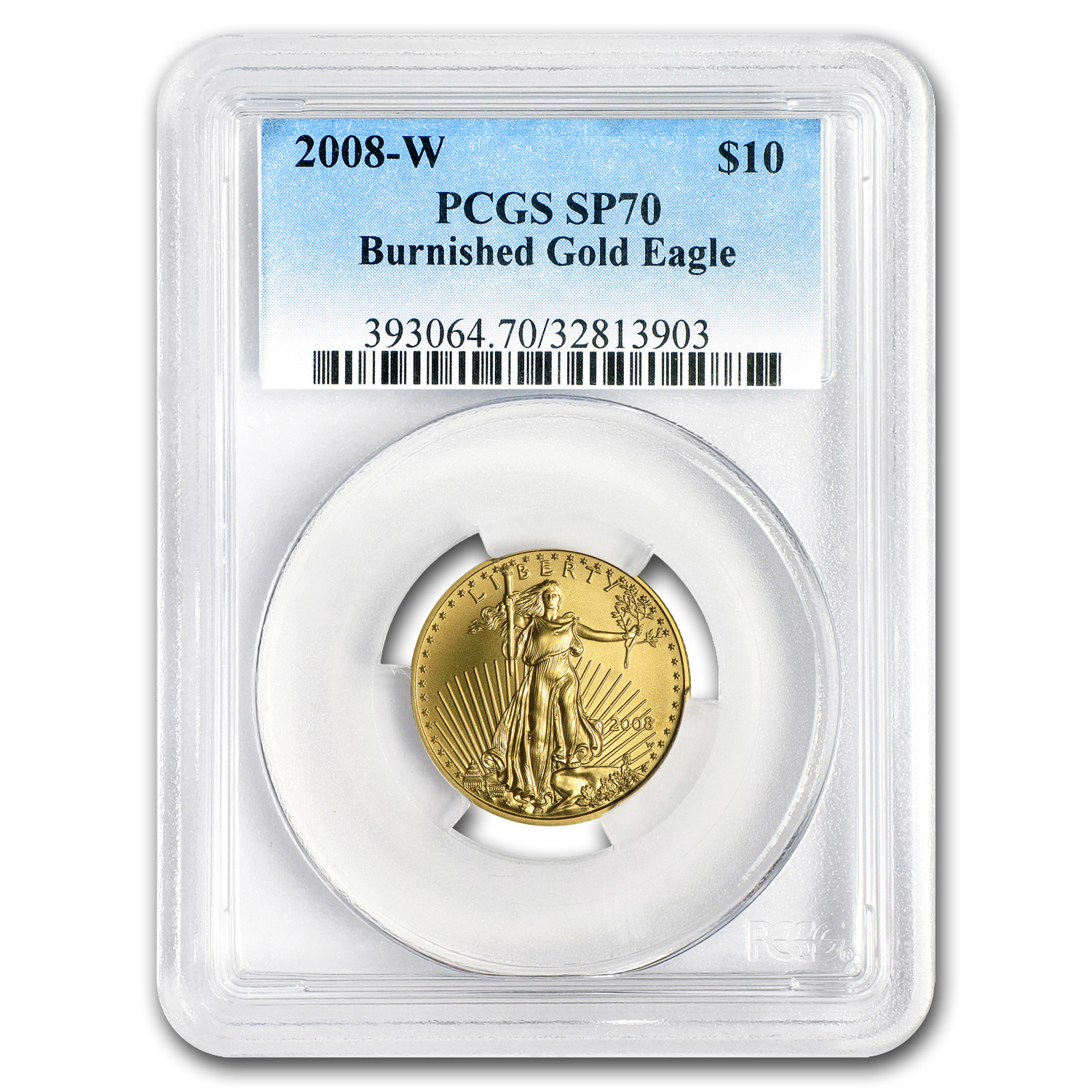 2008-W 1/4 oz Burnished Gold American Eagle MS-70 PCGS