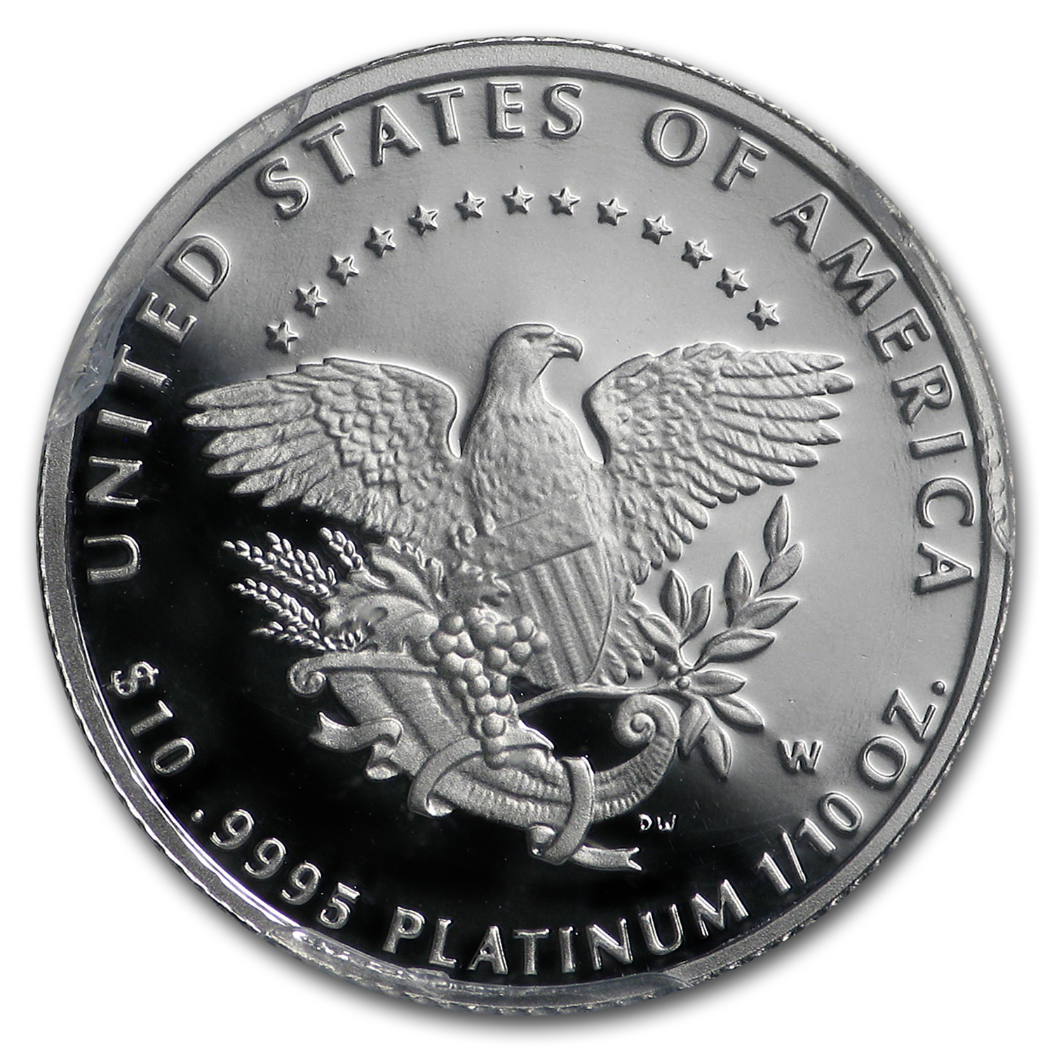 2005-W 1/10 oz Proof Platinum American Eagle PR-70 Registry Set