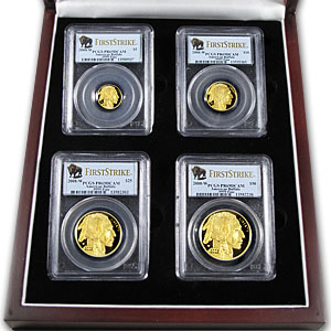 2008-W 4-Coin Proof Gold Buffalo Set PR-69 PCGS (First Strike)